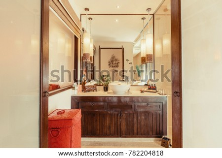 Shower Cabin Bathroom Interior Luxury Asian Stock Photo (Royalty ...