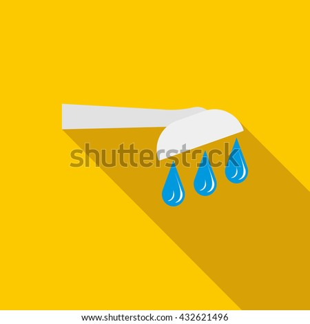 Shower icon in flat style - stock photo