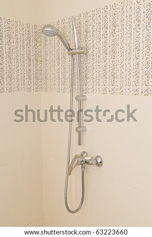 Shower  in the bathroom - stock photo