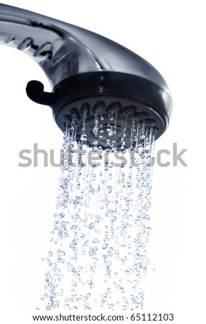 shower isolated on a white - stock photo