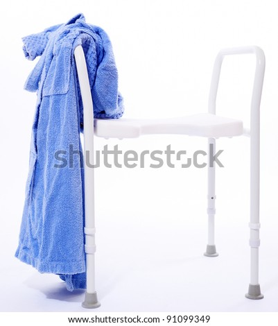 Shower seat - stock photo
