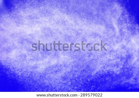 shower water drops,abstract splashes of water on a blue background - stock photo