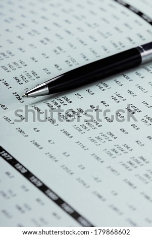 Showing business and financial balance  - stock photo