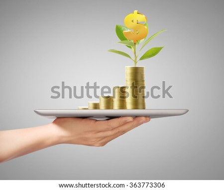 shows tablet modern technology as concept - stock photo