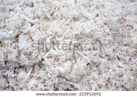 shredded coconut background texture - stock photo