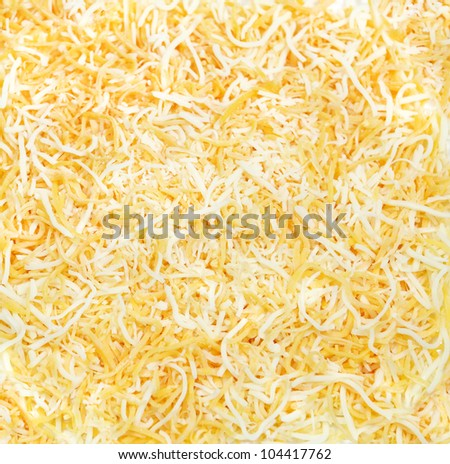 Shredded Colby and Monterey Jack mix for food background - stock photo