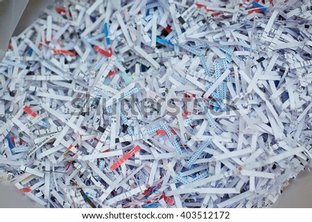 Shredded documents, privacy concept - stock photo