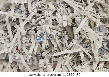 Shredded Paper Background - stock photo
