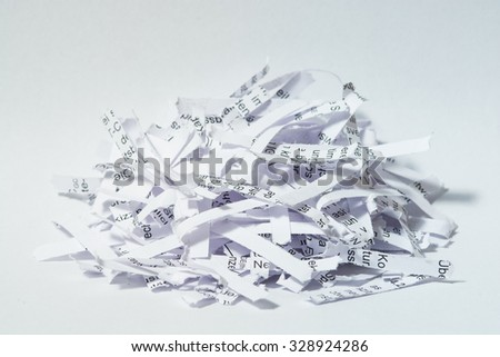 Shredded Paper, Data Security - stock photo
