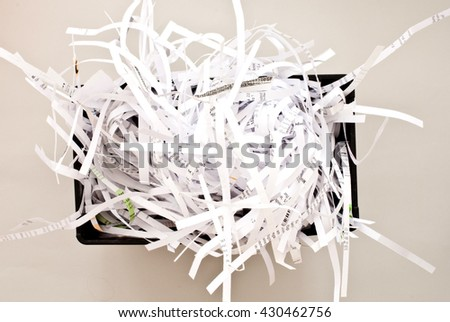 shredded paper - office concept - stock photo