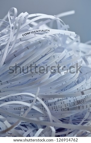 Shredded paper series - confidentiality - stock photo