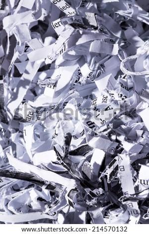 shredded paper, symbolic photo for data destruction, documentation and legacy data - stock photo