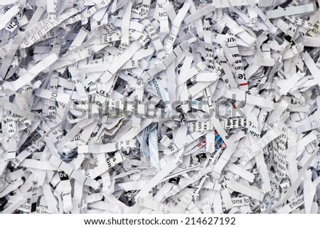 Shredded paper texture background - stock photo