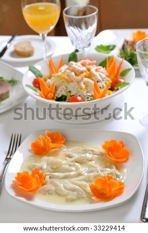 shrimp salad and fish sauce