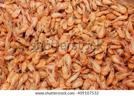 shrimps background texture - stock photo