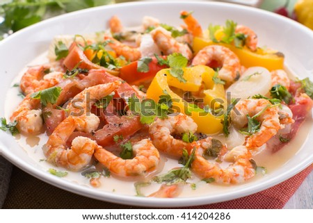 shrimps moqueca, shrimps stew