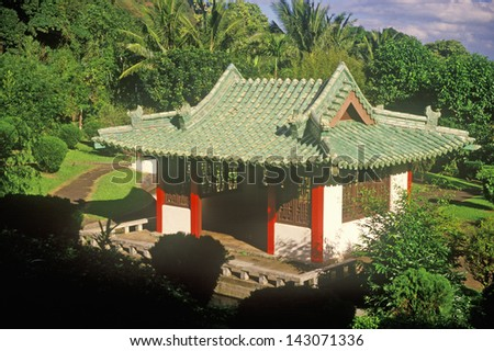 Shrine, Iao Needle State Park, Maui, Hawaii - stock photo