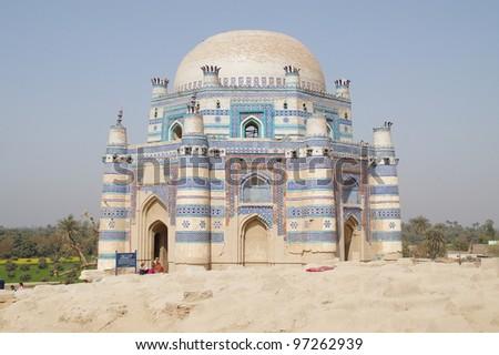 Shrine of Bibi Jawindi at Uch Sharif - stock photo