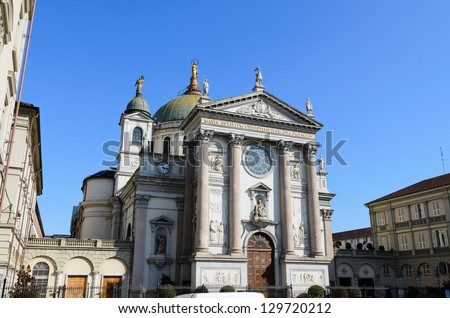 Shrine of Mary Help of Christians - Turin A.D. 1865 - Piedmont - Italy - stock photo