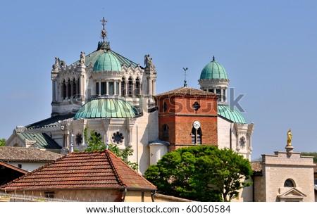 Shrine of St. John Vianney at Ars in France - stock photo