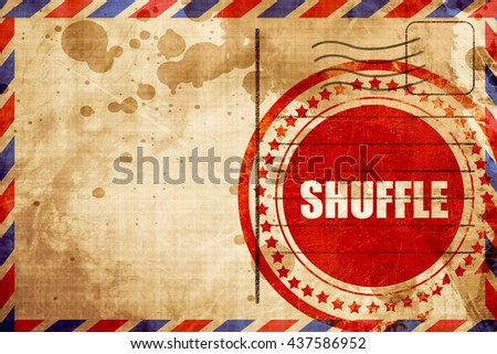 shuffle dance, red grunge stamp on an airmail background - stock photo