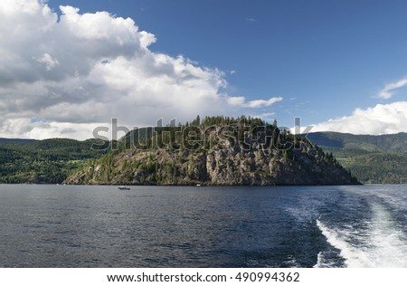 Shuswap Lake and Cooper Island, British Columbia, Canada
