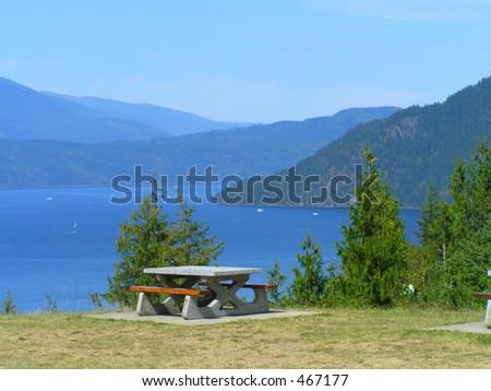 Shuswap Picnic Area - stock photo