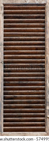 shutter detail - stock photo