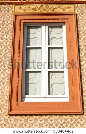 shutter europe  italy  lombardy        in  the milano old   window closed brick      abstract grate red