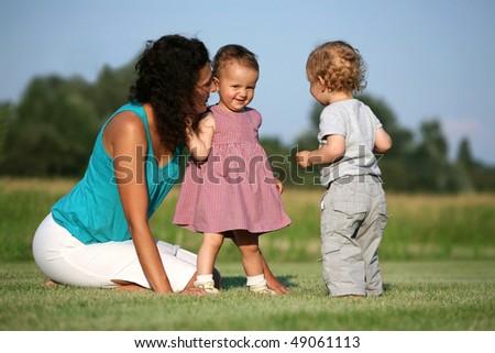 Shy little girl - stock photo