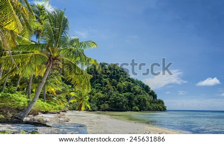 Siamil Borneo Turquoise Tropical Paradise in Borneo, Malaysia - stock photo