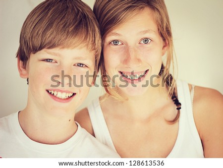 Siblings - stock photo