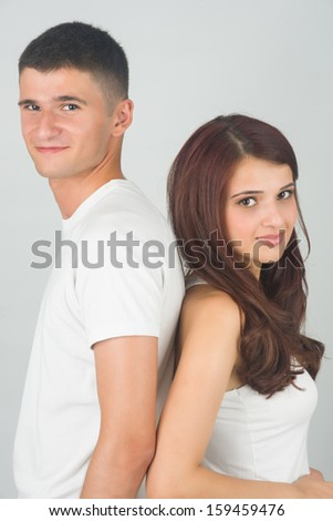 Siblings supporting each other - stock photo