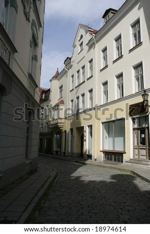 Sice street in Tallin Estonia - stock photo