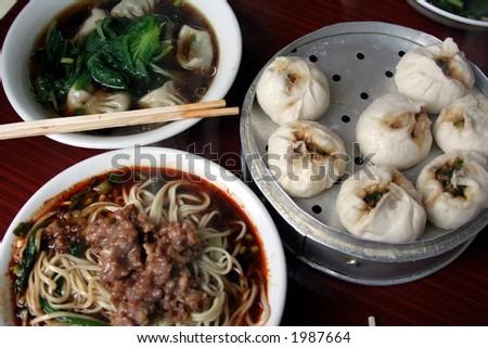 Sichuanese Breakfast, Northwestern China - stock photo