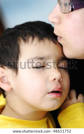 Sick child - stock photo