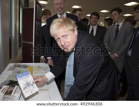 Sidcup,UK,March 3rd,2016,Boris Johnson,MP, attends Sidcup Grammar School 6th form opening