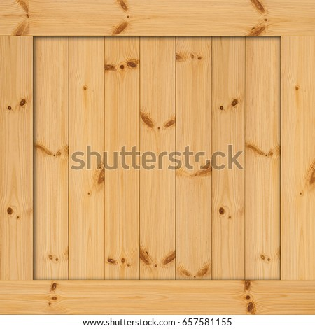 Side Of Wooden Box Texture Wood With Space Wall Or Frame