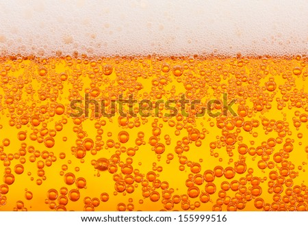 Side view beer macro, horizontally seamless tiling - stock photo