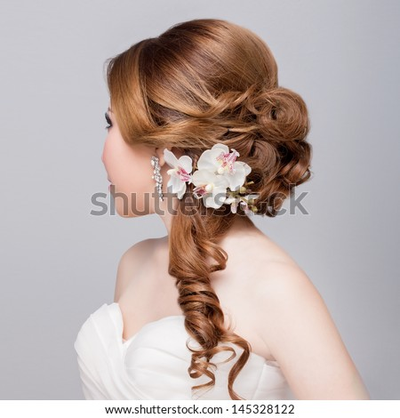 Hair on it Side Style Side View Bridal Hair Style