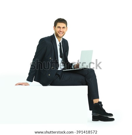 person sitting in chair back view png. Side View Of A Handsome Young Business Man Sitting On White Modern Chair Person In Back Png