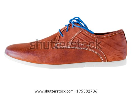 Side view of a leather shoe - stock photo