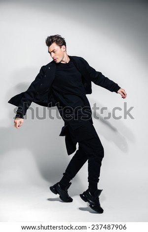 side view of a walking man,  - stock photo