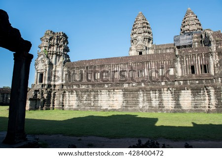 Side View of Angkor Wat