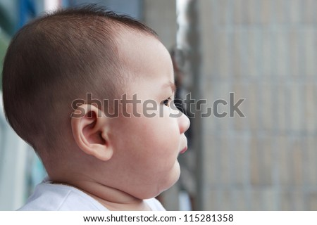 side view of baby head