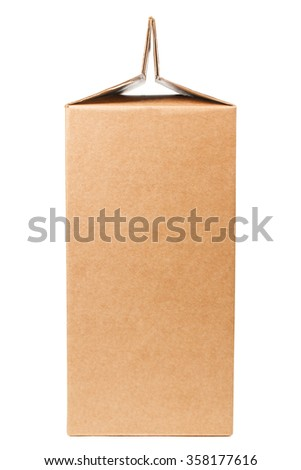 Side view of cardboard box isolated on white