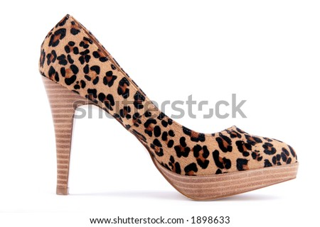 side view of exotic high heel - stock photo