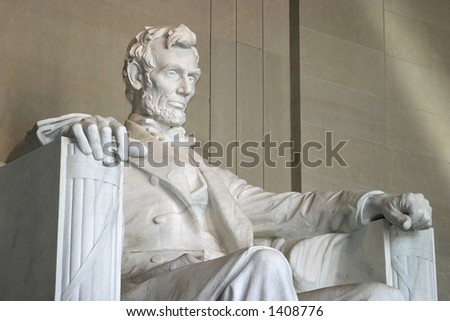 Side view of Lincoln Memorial - stock photo