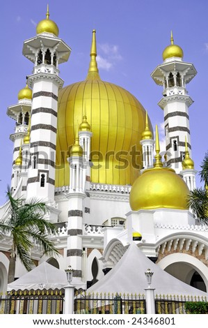 Side view of scenic mosque - stock photo