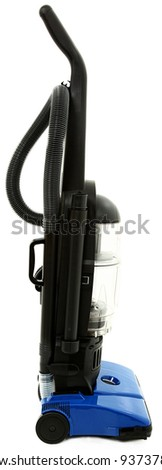 Side View Of Vacuum Cleaner Isolated On White Background - stock photo